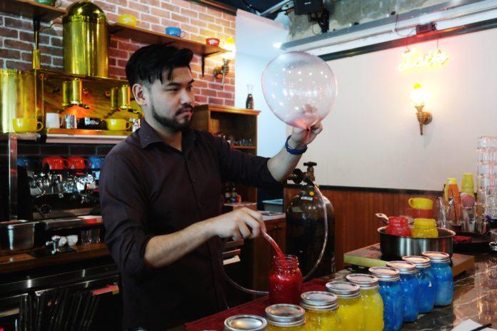 central perk edible helium balloons